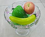 Glass fruit plate